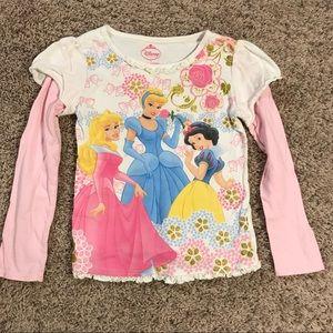Girl's Disney Princess size 5 long sleeve T-shirt